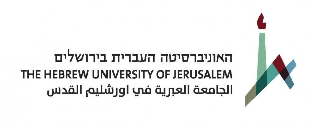 hebrew university logo three lang