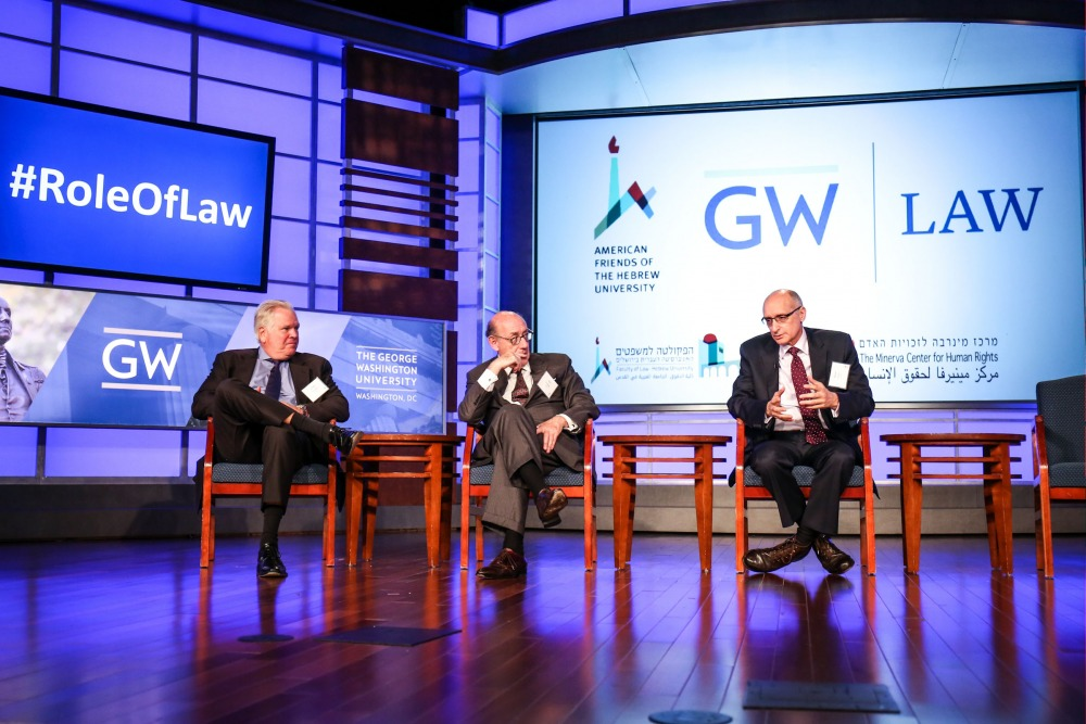 Speakers at a conference held in co. with The George Washington University on the role of law in the fight against terrorism - September 2016