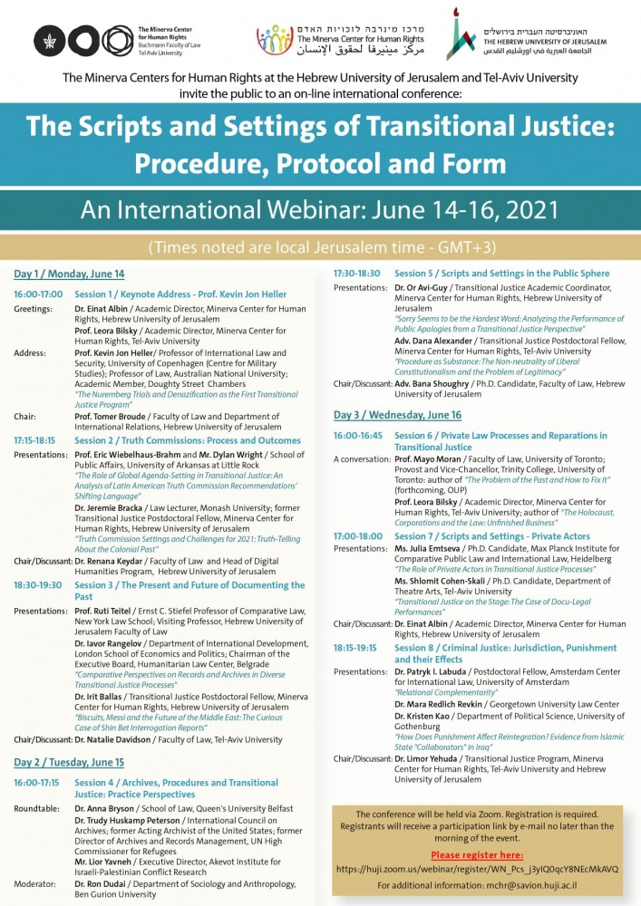 The Scripts and Settings of Transitional Justice: Procedure, Protocol and Form-poster